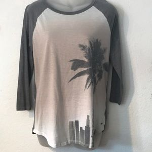 AMERICAN EAGLE AEO soft & sexy T size LARGE gray